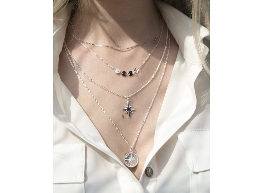 North Star Necklace Silver