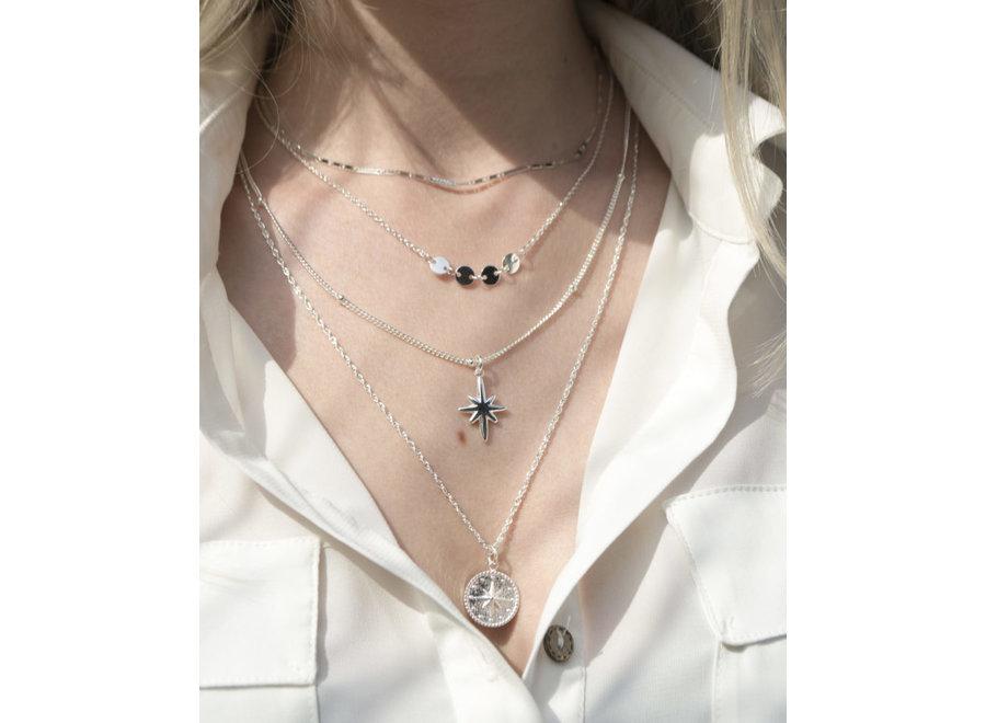 Big Star Necklace Silver