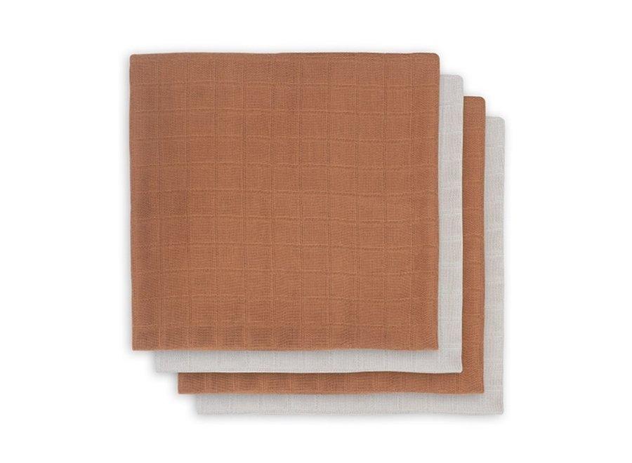 Bamboe Hydrofiel 70x70cm caramel (4st)