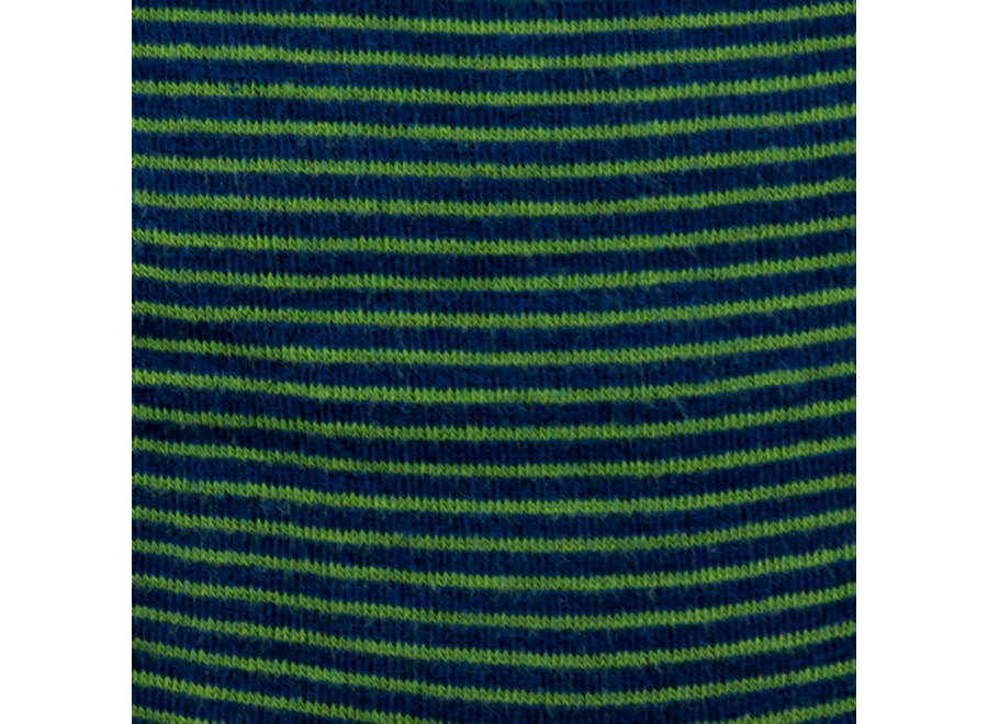 Sokken - Blue with green stripes 42-46
