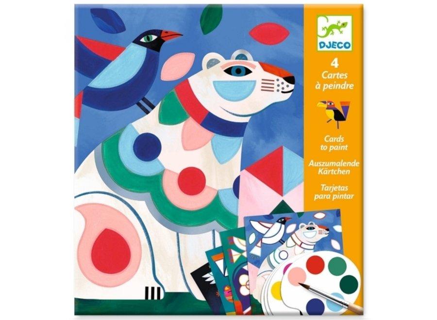 Knutselpakket - Schilderen op Kleur dieren