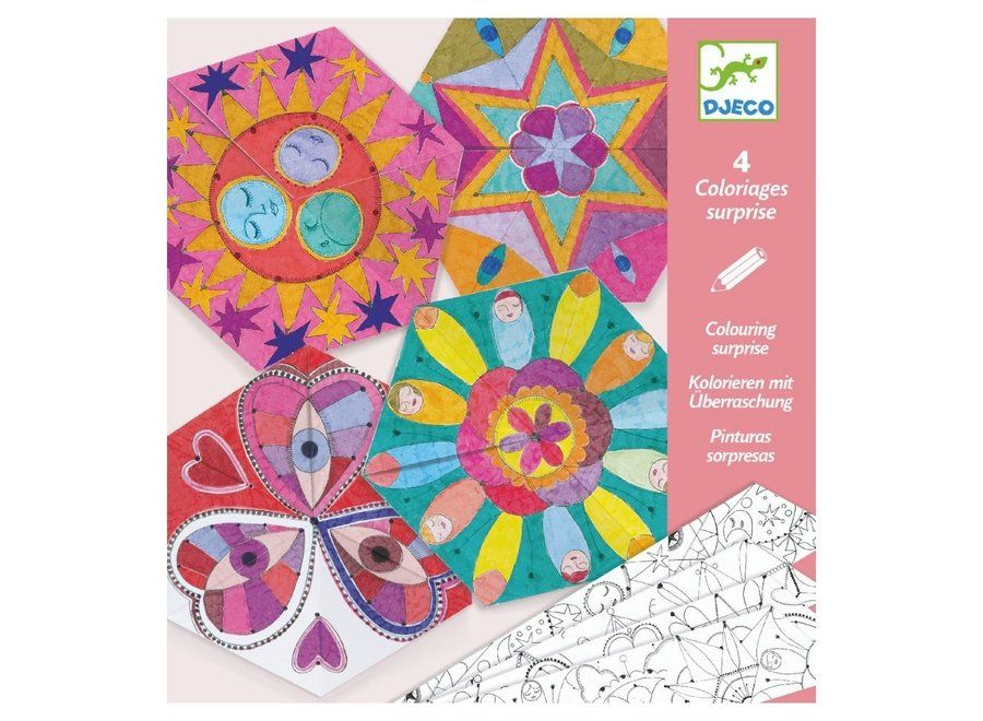 Knutselpakket - Mandela kleuren en vouwen