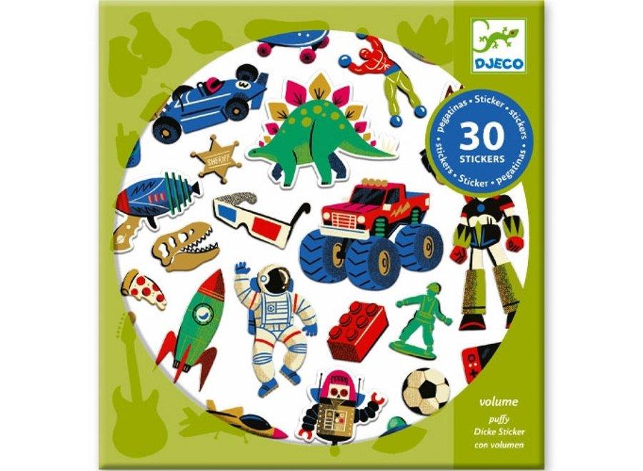 Stickers - Retro speelgoed