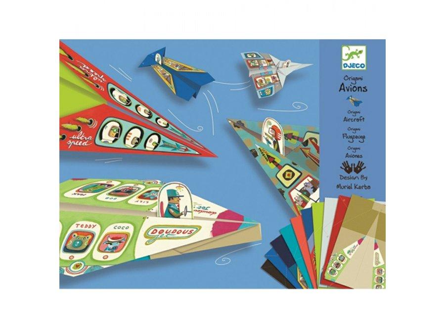 Knutselpakket - Origami vliegtuigen