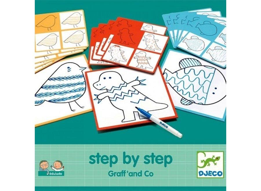 Tekenkaart Stap voor Stap - Monsters