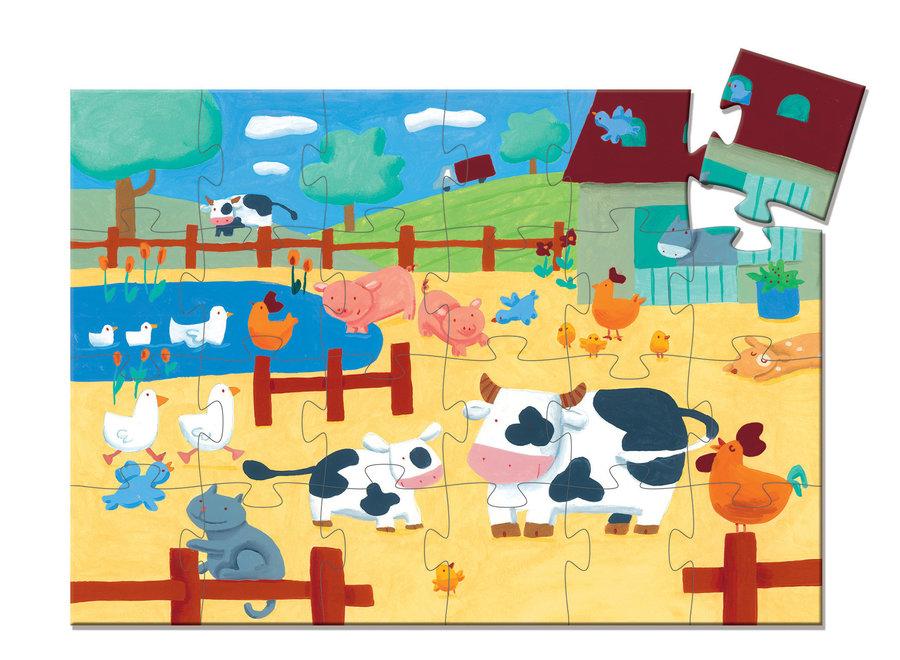 Puzzel - Koe op de Boerderij (24st)