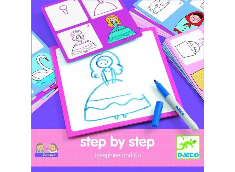 Tekenkaart - Stap voor Stap Prinsessen