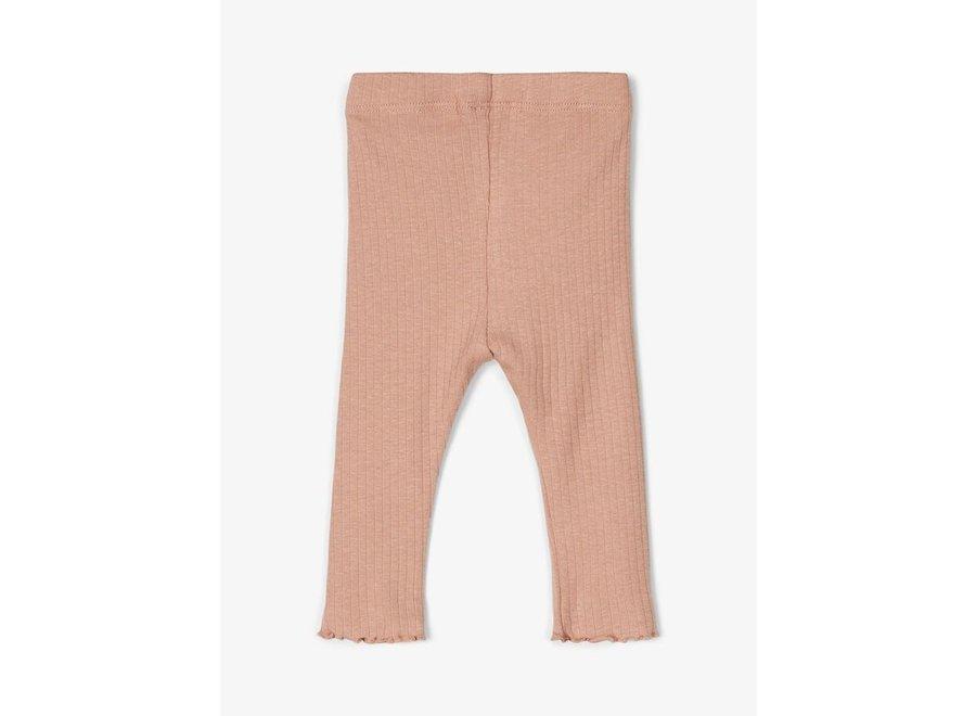 Geribde legging - Roze