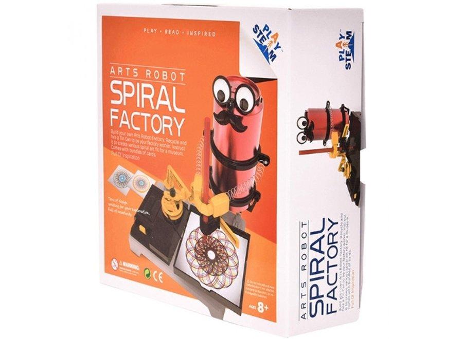Bouwset Arts robot spiral factory