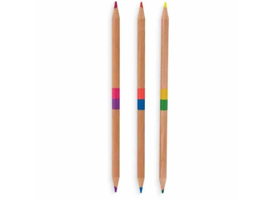 Dubbelzijdige kleurpotloden