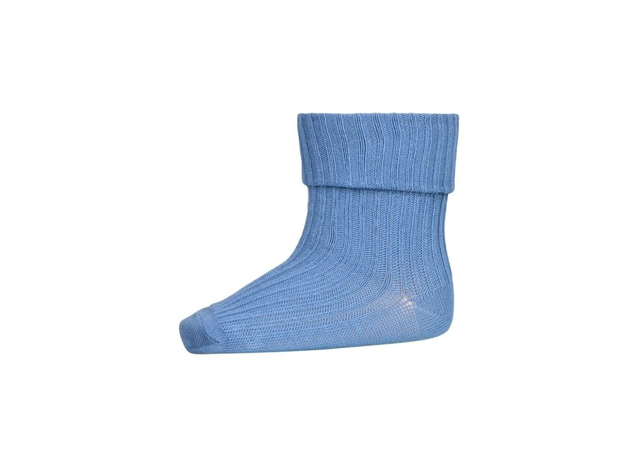 Cotton Rib Baby Socks - Captains Blue