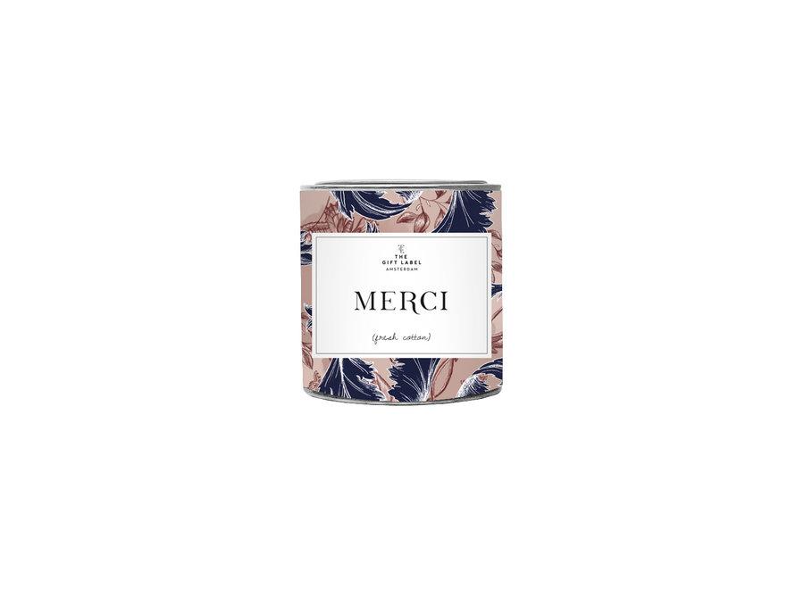 Geurkaars 90gr - Merci - (Fresh cotton)