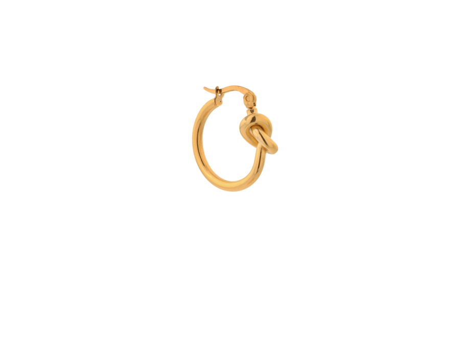 Single tied up hoop gold