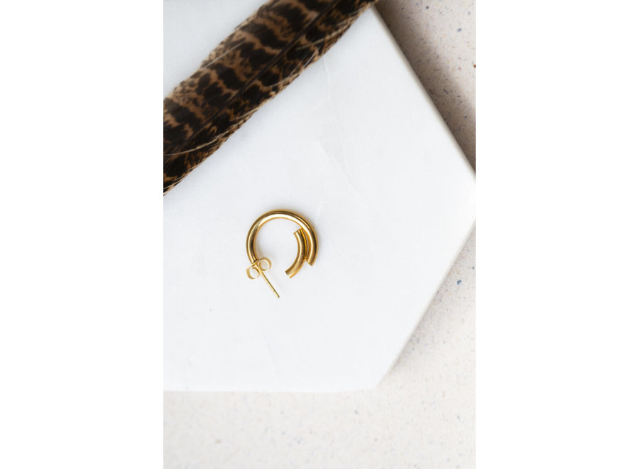 Single double en hoop gold
