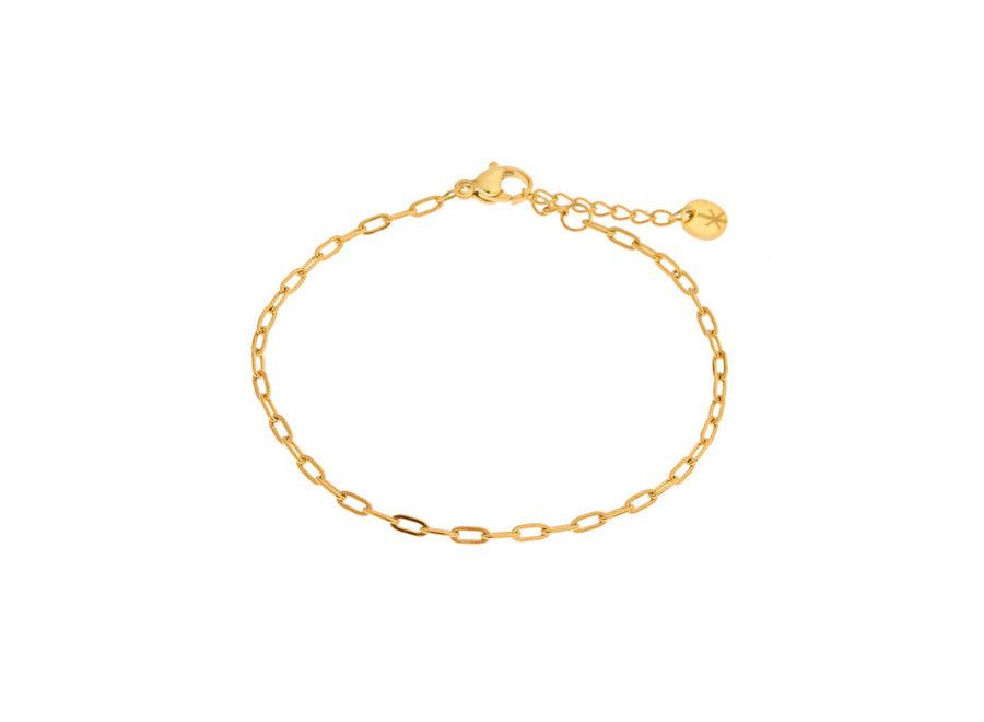 Plain chain bracelet gold