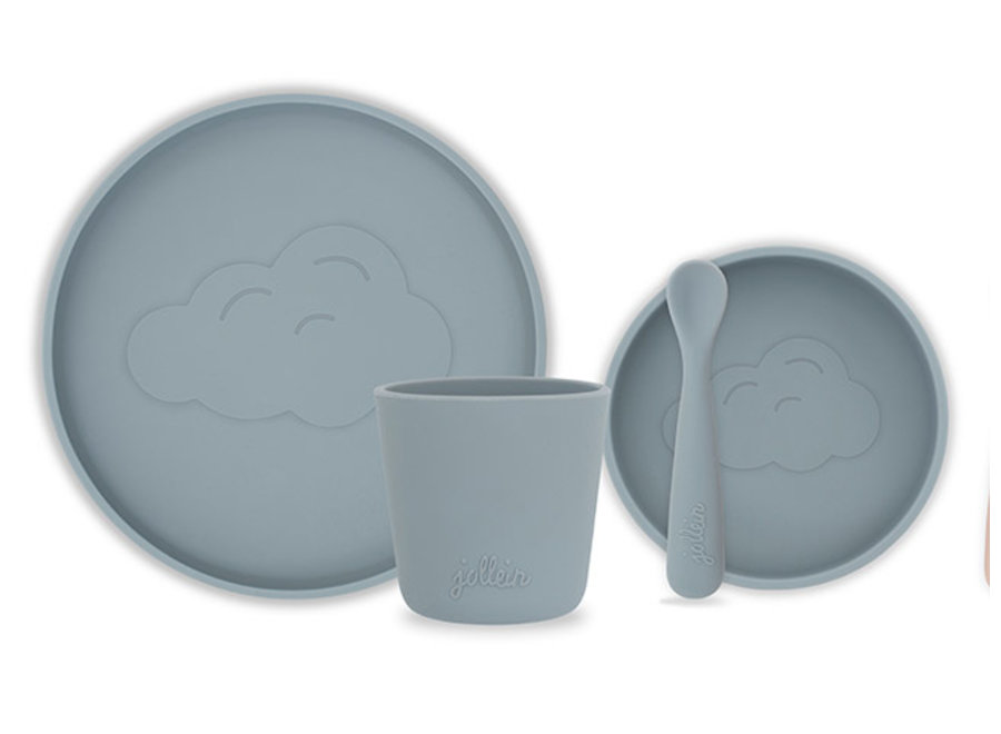 Dinerset Siliconen Storm grey
