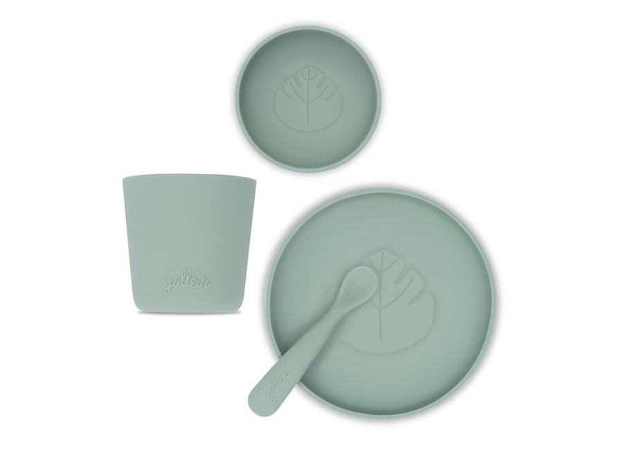 Dinerset Siliconen Ash green