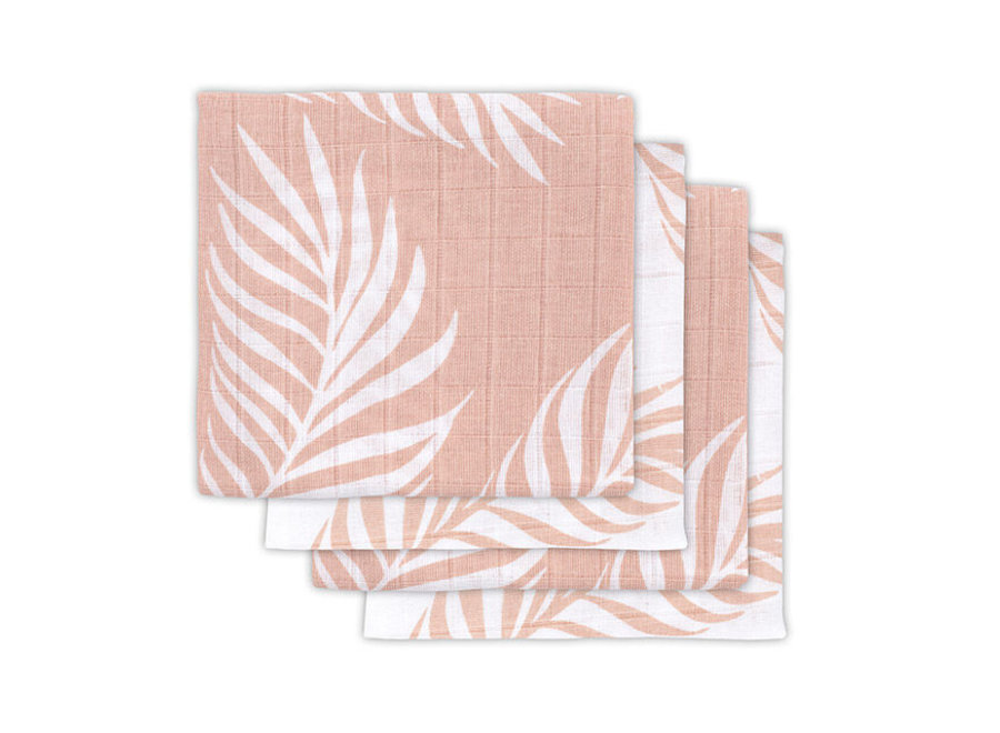 Hydrofiel multidoek small 70x70cm Nature pale pink (4pack)