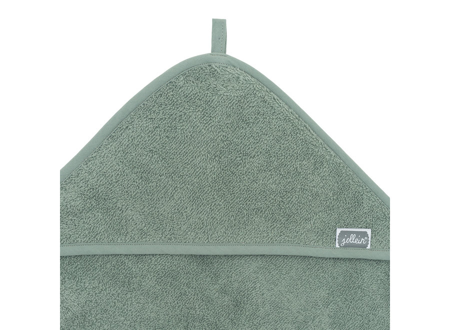 Badcape badstof 75x75cm ash green