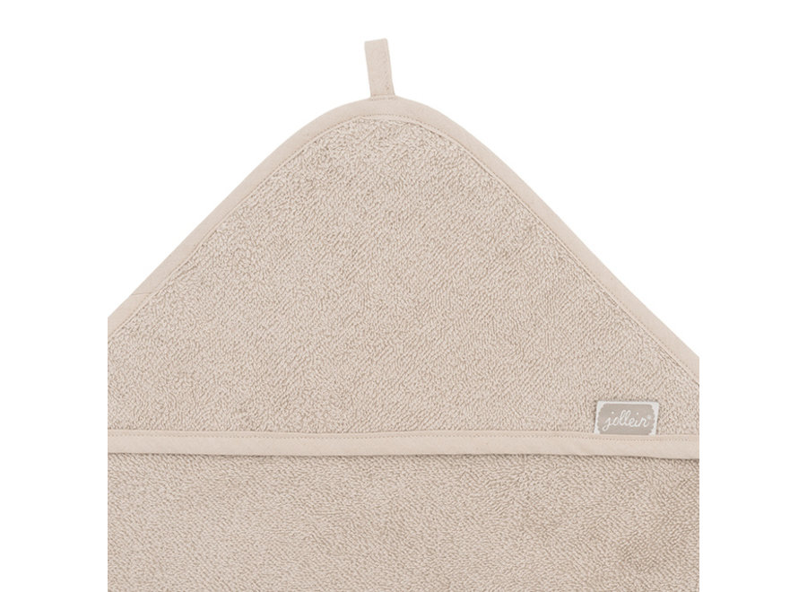 Badcape badstof 75x75cm nougat