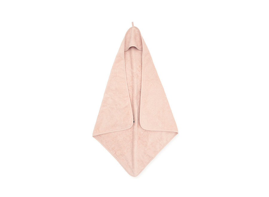 Badcape badstof 75x75cm pale pink