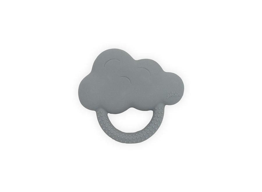 Bijtring rubber Cloud storm grey