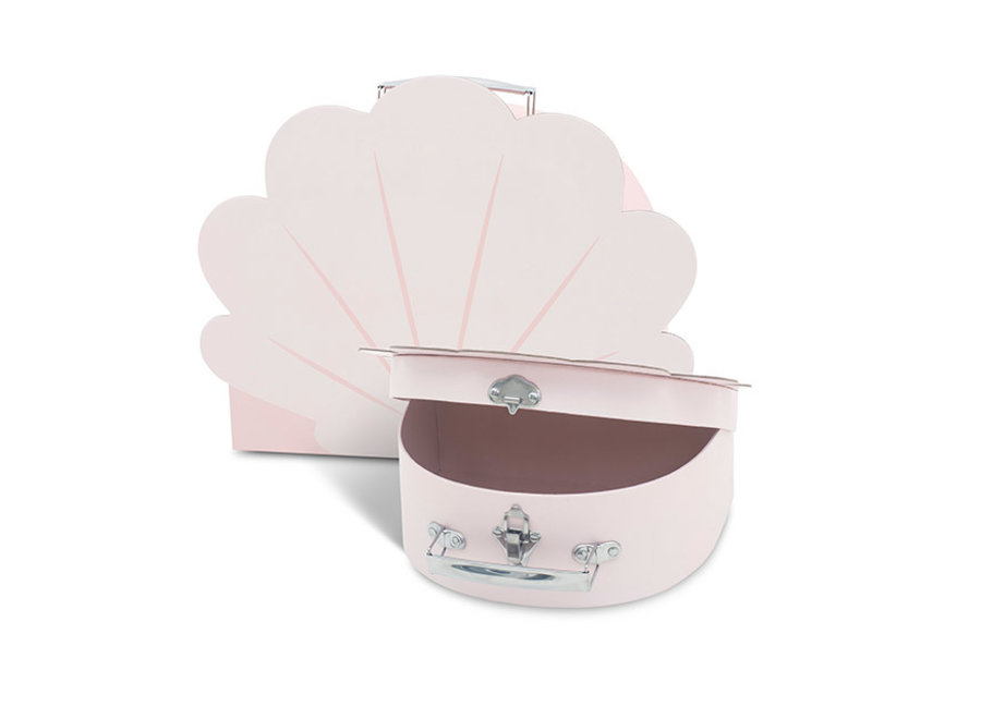 Speelkoffertje shell pale pink (2pack)