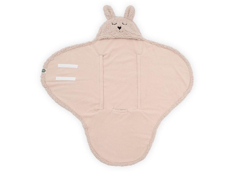 Wikkeldeken Bunny pale pink