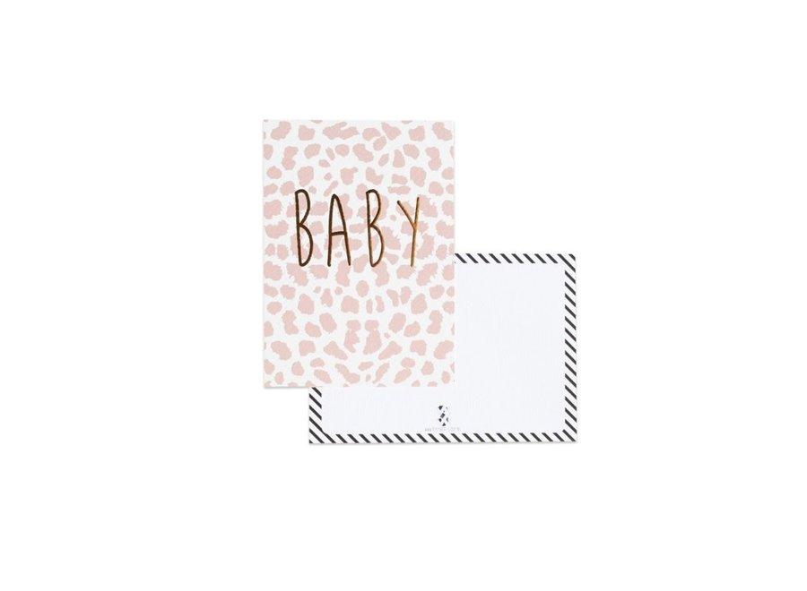 Kaart Baby panter roze