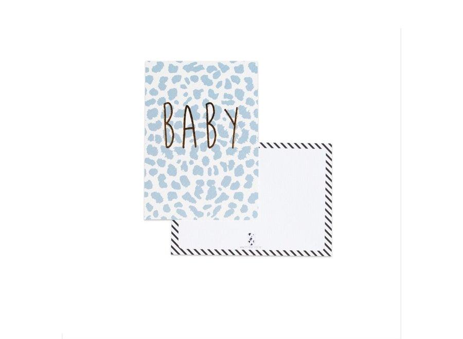 Kaart Baby panter blauw