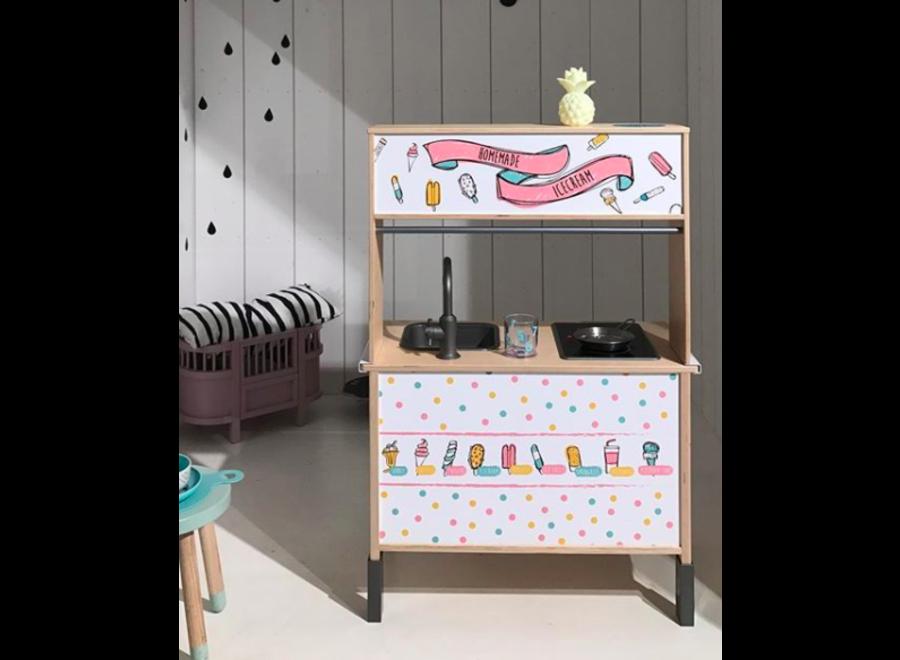 Ice Cream Bar Sticker Set - tbv Ikea Düktig keukentje