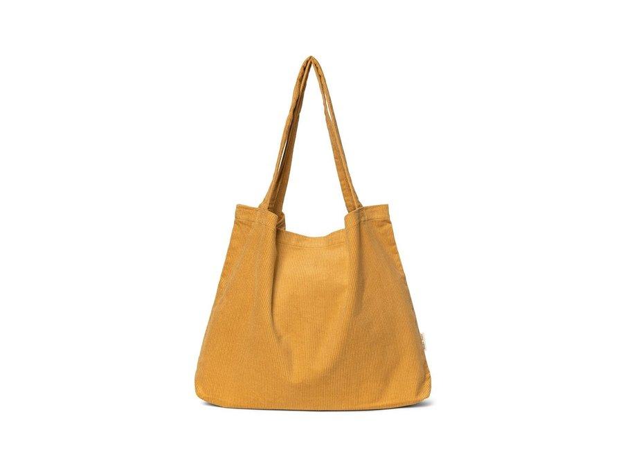 Mustard rib mom-bag