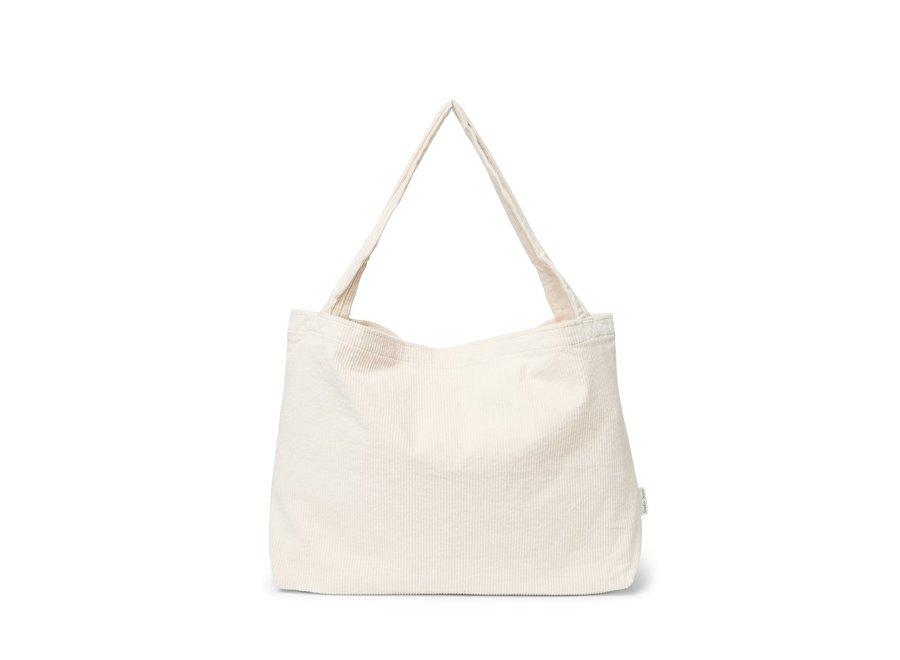 Old White rib mom-bag
