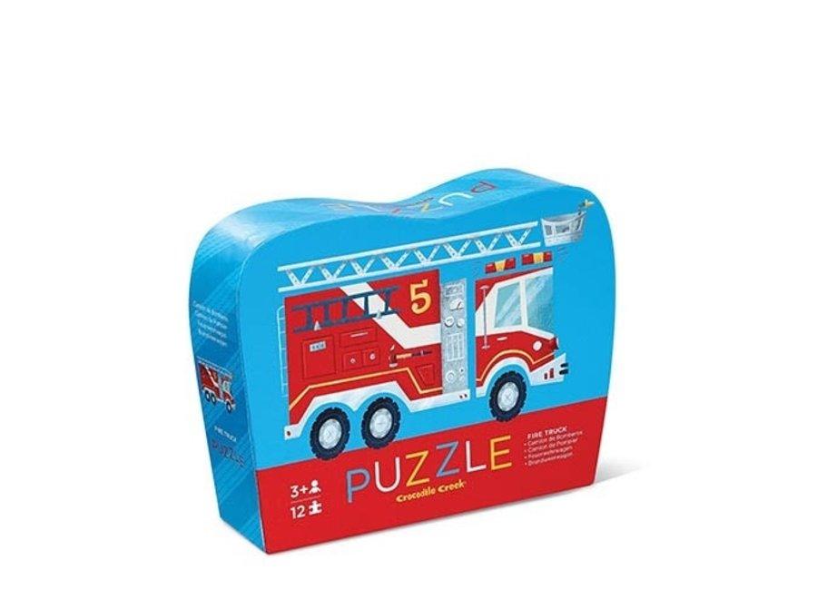 Puzzel - Brandweerwagen 12st.