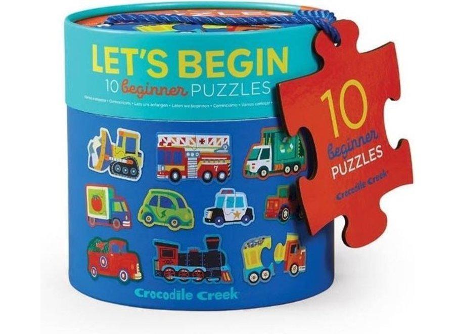 10 puzzels voertuigen 2st