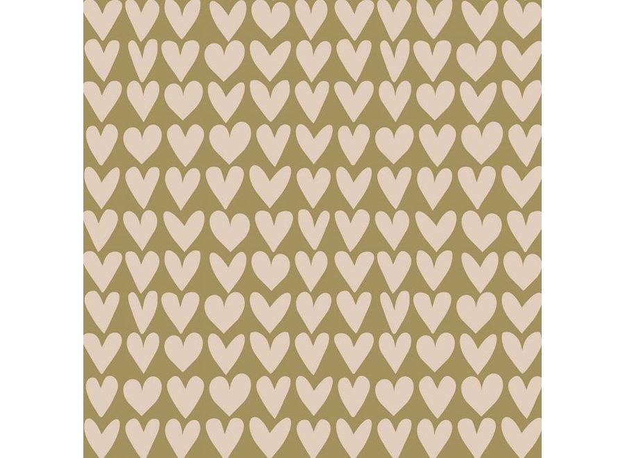 Love - Olive Green / Beige (70 cm x 3 mtr)