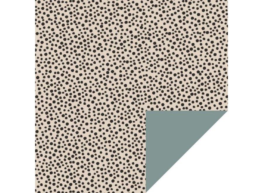 Black Dots - Beige (70 cm x 3 mtr)