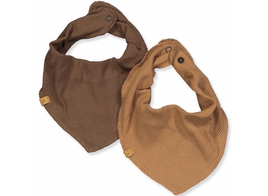 Slabbetje 2pack - Tabacco Brown