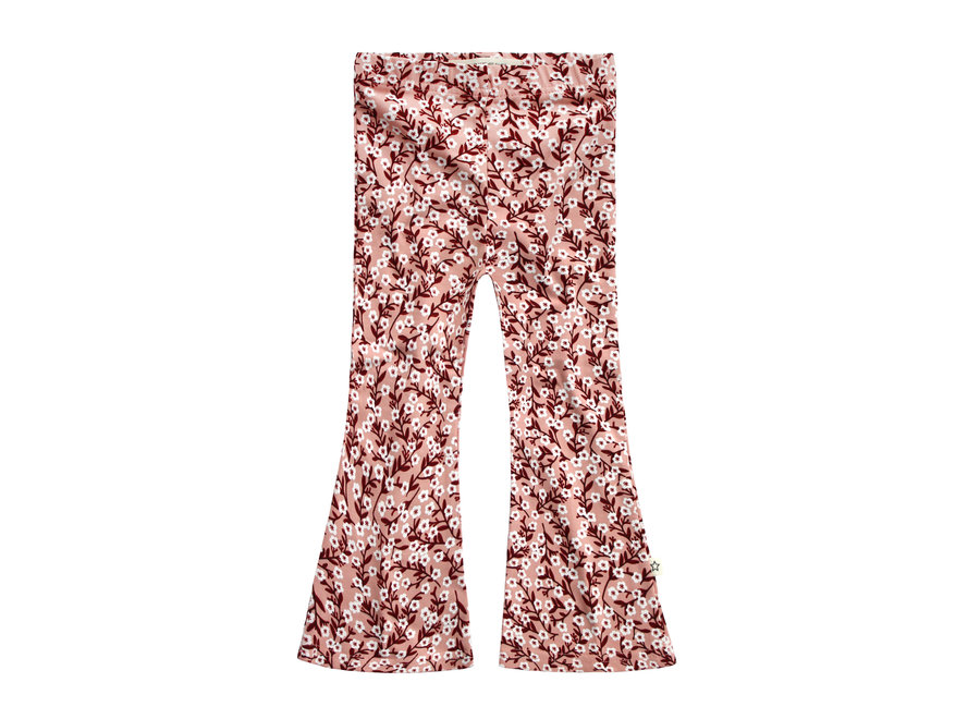Floral Flared Legging -Peach