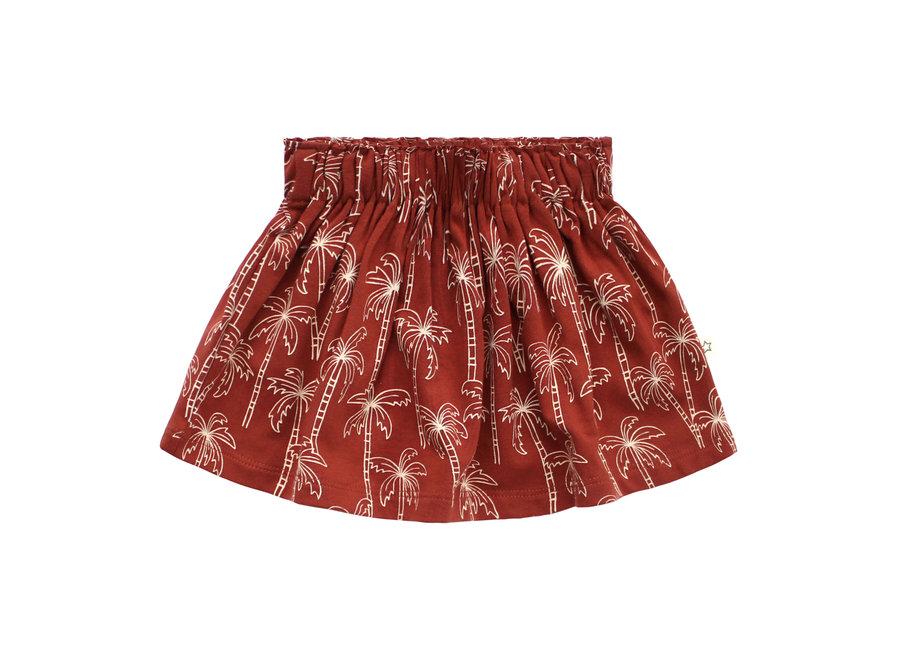 Palmtrees Skirt - Dark Rust