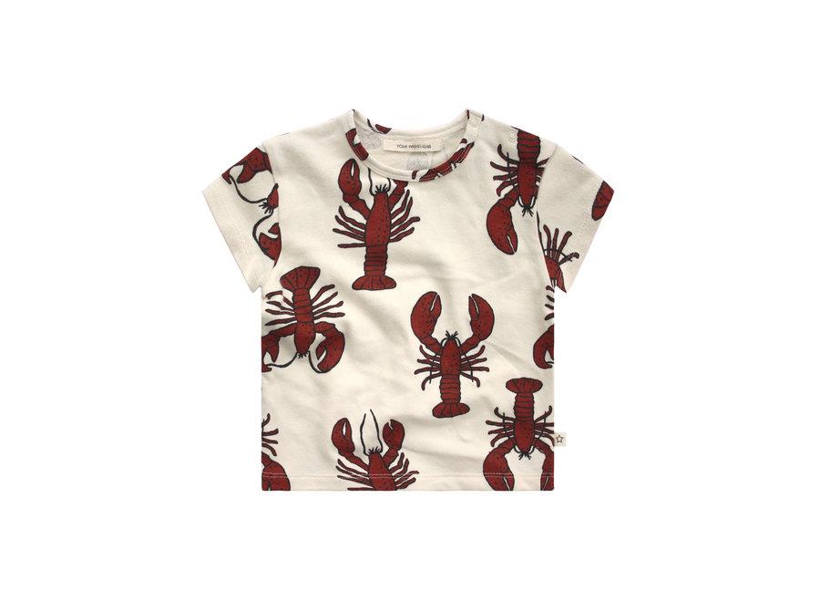Lobster Loose Tee - Dark Rust