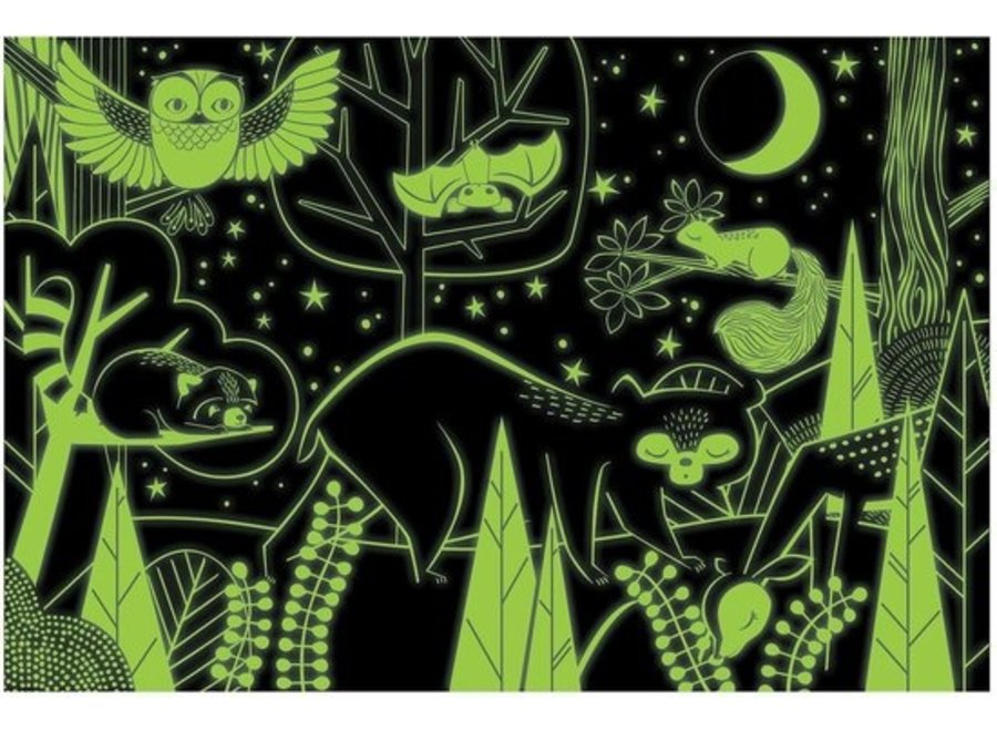 Glow in the dark puzzle - In the forrest 100st