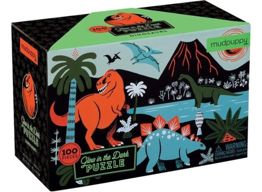 Glow in the dark puzzle - dinosaurs 100st