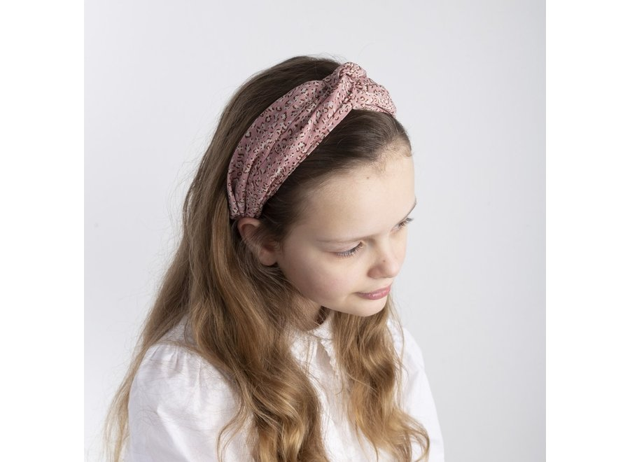Jungle wide fabric alice band - Pink