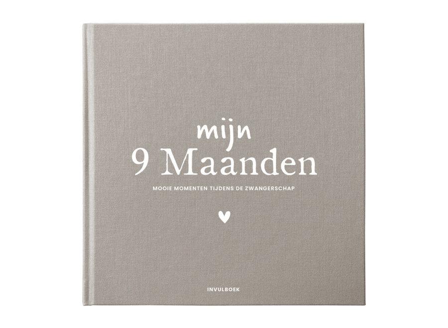 Mijn 9 Maanden invulboek Linnen Bruin
