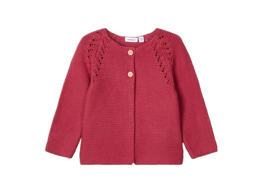Vest Knit - Earth Red