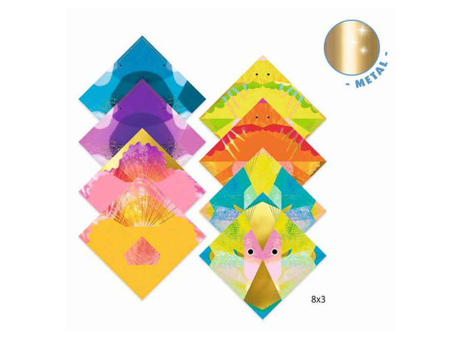 Knutselpakket - origami zeedieren