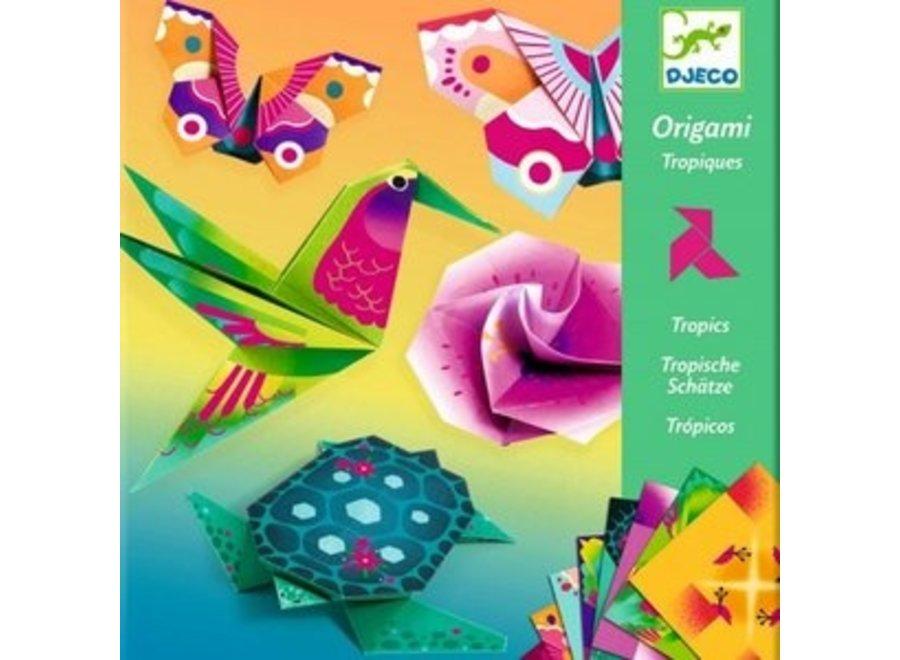 Knutselpakket - Origami tropische dieren