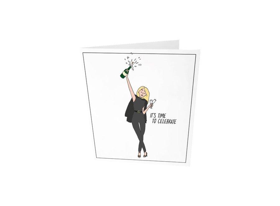 Confetti card It's time to celebrate