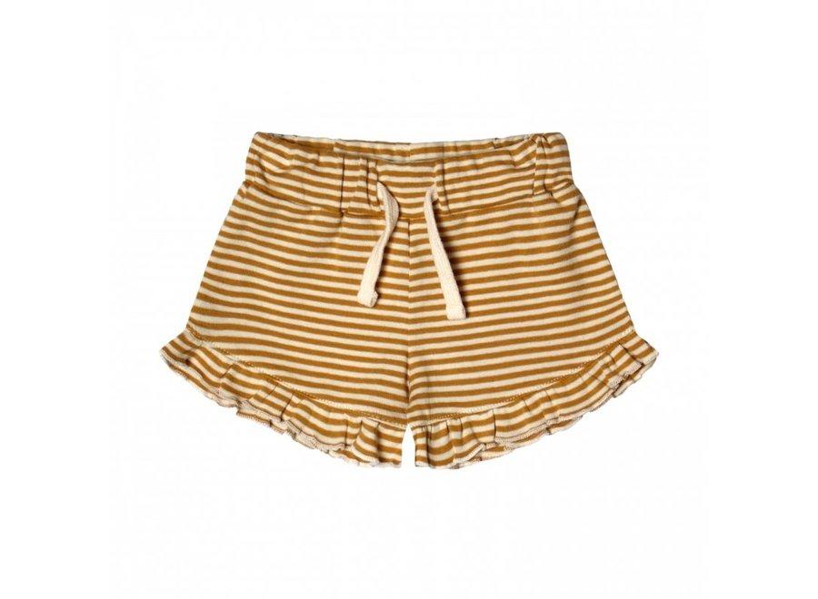 Gold Stripes | Ruffle Shorts